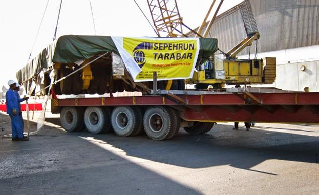 Transit of Port Transporter from Bandar Abbas to Aktau/Kazakhstan
