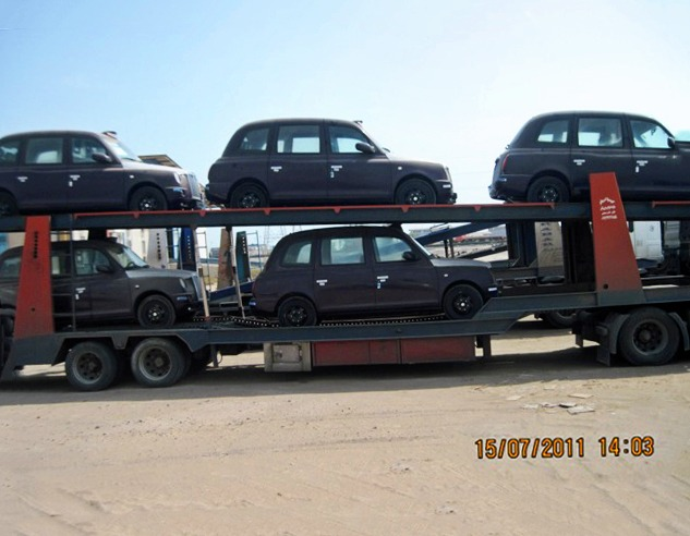 Transit of (London) Cabs for Baku Eurovision 2012 from Bandar Abbas