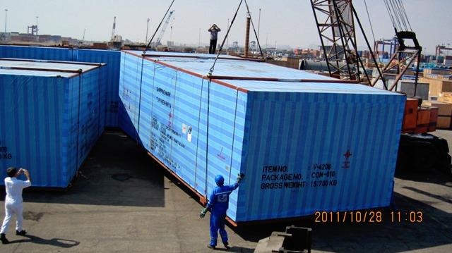 Transit of Equipment from Bandar Abbas to Aktau/Kazakhstan - 2011