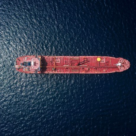 Container Ship Top View